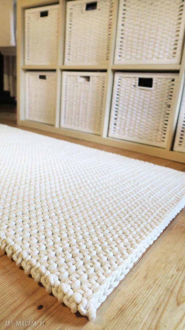 ręcznie zrobione dywany dwustronny chodnik z bawełnianego sznurka