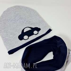 czapka komin granatowe auto, czapka, komin, i samochod, auto