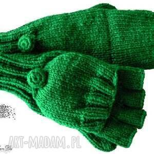 Bezpalczatki z klapką #7, rękawiczki, klapka, 2w1, mitenki, jednopalczaste