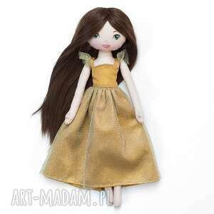 złota księżniczka - bawełniana laleczka, lalka, złota