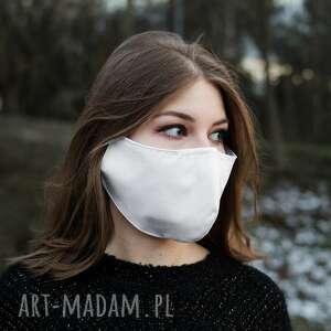 maseczki maska medyczna biała maseczka z bawełny, maska, bawełniana, gumki