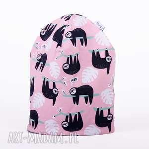 ręcznie zrobione ubranka czapka leniwiec