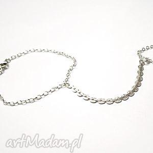hand made bransoletki cekinowa silver - bransoletka pierścionek