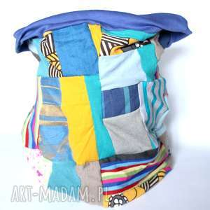 kolorowy damski patchworkowy komin, etno, boho, kolorowy, wzory, sport