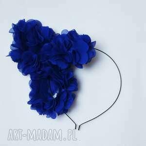 KWIATY BOHO, opaska, boho, niebieski, kwiaty