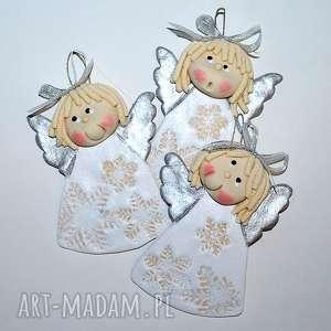 ręczne wykonanie pomysł na świąteczne prezenty panny śniegowe - aniołki