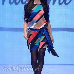 sukienka indietro multicolor, sukienka, sylwester, karnawał, kolorowa, plecy