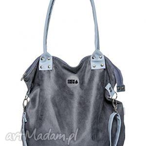 ręczne wykonanie na ramię torba worek mysza light blue