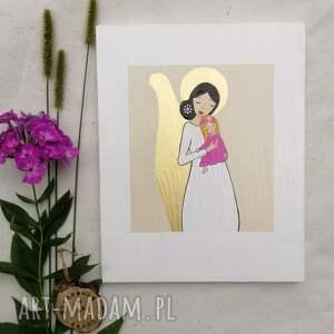 anioł stróż dla dziewczynki na chrzest święty no 3, stróż, prezent