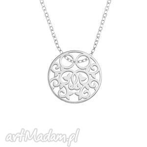 celebrate - circle 2 - necklace - pozłacany, ażurowy, celebrytka