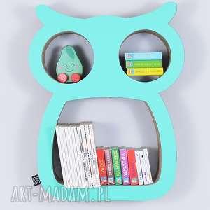 Półka na książki zabawki SOWA ecoono | miętowy, półka, chłopiec, dziewczynka