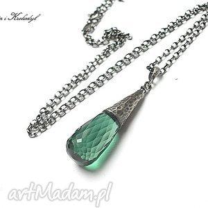 handmade naszyjniki green quartz - naszyjnik