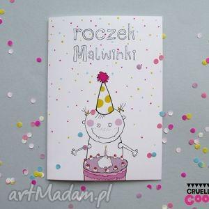 kartka urodzinowa na roczek personalizowana - roczek, urodziny, personalizowana, kartka