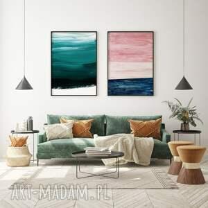 plakaty zestaw plakatów abstrakcje - 50x70 cm, plakaty, plakat, rozowy plakat