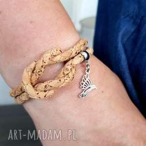 bransoletka joyee cork knot with colibre, bransoletka, korek, koliber, węzeł