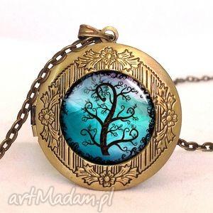 drzewko - sekretnik z łańcuszkiem - romantyczny, medalion, prezent