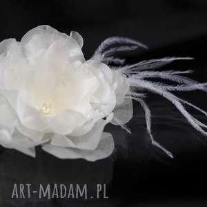 oryginalne prezenty, selenit kwiat z jedwabiu, ozdoba, kwiat, jedwab, swarovski
