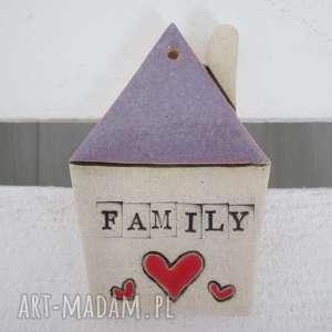 prezent na święta, domek zawieszka family, rodzina, domek, ceramiczny, dekoracja