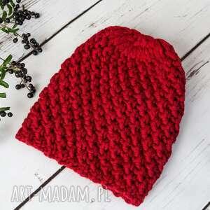 czapka hand made, zimowa czapka, wełniana prezent