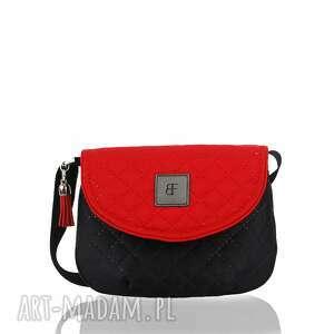 torebka dla dziewczynki 243 sweet love czarno-czerwona, torebeczka, dziecinna, urocza
