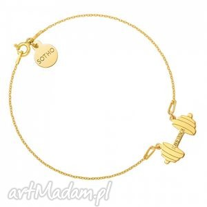 bransoletki złota bransoletka sztanga i can be stronger, bransoletka, fit, fitness