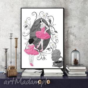 mała baletnica art print a4, ilustracja, dziewczynka, plakat, baletnica, taniec