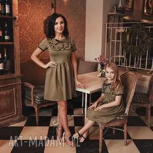 LATORI - Sukienka Damska z kolekcji Mama i Córka dla mamy LM44/4 (khaki)