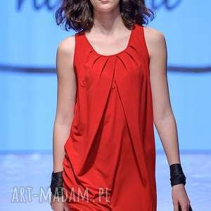 Sukienka Czerwona | Rogusa Rosso, sukienka, ramiona, made-in-poland