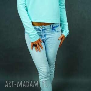 Bluza Mint Shorty, miętowa, bluza, krótka, wygodna, casual, streetwear