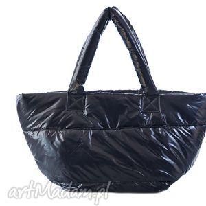 torebka damska,pikowana,puchowa 006 granatowa, torba, torebka, puchowa, pikowana