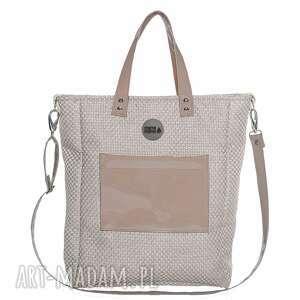 torba damska cuboid shine, wygodna, pojemna, prezent, zakupy torebki