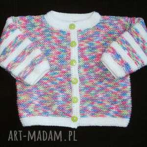 sweterek tęczowy, sweterek, rękodzieło, niemowlę, cieplutki, włóczka