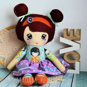 prezenty na święta, lalka bella - lilu 50 cm, lalka, japonia, haftowana