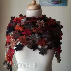chustki i apaszki art crochet powitanie jesieni, rękodzieło, szal, styl, prezent