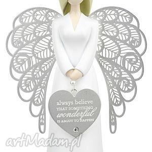 handmade dekoracje figurka anioł szczęścia i wiary you are an angel 15.5 cm