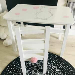 ręcznie wykonane dla dziecka stolik i krzesełko dzieci - maluch
