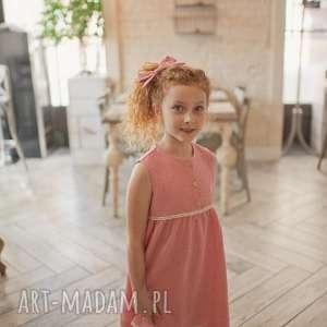 sukienka daisy, muślinowasukienka, różowasukienka, dladziewczynki