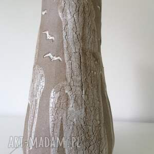 wazon klify, ceramika rękodzieło, z gliny, dekoracja wnętrza