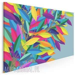 obraz na płótnie - liście kolory barwy 120x80 cm 94601, liście