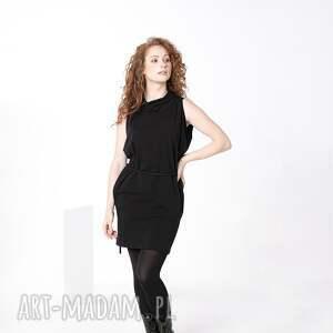 sukienki sukienka z golfem o wiązaniem mała czarna, sukienka, dopasowana