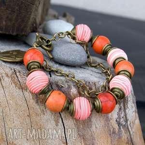 bransoletka z howlitów na codzień c506 - bransoletka modowa, kolorowa bransoletka