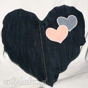 Prezent Poduszka z Jeansu SERCE, jeans, poduszka, serce, prezent, recykling, modna