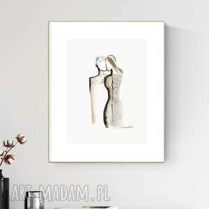 grafika 30x40 cm wykonana ręcznie, abstrakcja, obraz do salonu, 2617153