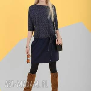 Sukienka Legato Melange/Blu - sukienka, melanż, jesień, tunika, zima, onesize