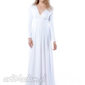 magdalena maxi hypnotic white, ślubna, suknia, wyszczuplająca