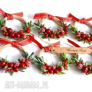 pomysł na prezenty świąteczne 3 x wianki mini, wianek, wianki, stroik, choinka