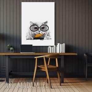 obraz drukowany na płótnie z brytysjskim kotem w formacie 60x80cm 02319