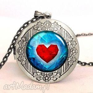 handmade naszyjniki serce - sekretnik z łańcuszkiem