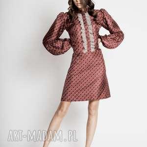 shigoto - jedwabna sukienka w stylu retro, sukienka