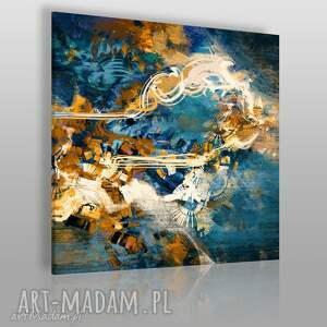 obraz na płótnie - abstrakcja nowoczesny w kwadracie 80x80 cm 22206